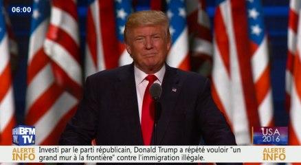 Donald Trump officiellement candidat aux élections américaines. - Zap actu du 22/07/2016 par lezapping