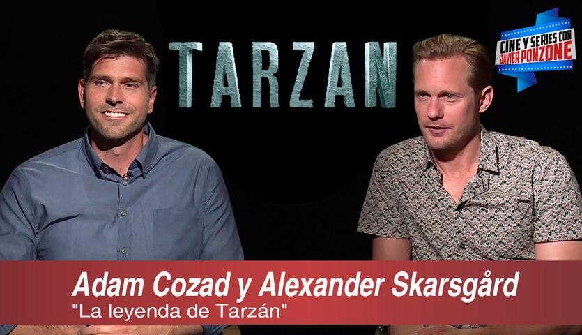 """A solas con Adam Cozad y Alexander Skarsgård por """"Tarzán"""" por Javier Ponzone"""