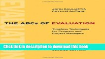 [PDF] The ABCs of Evaluation: Timeless Techniques for Program and Project Managers Read Online
