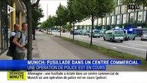 Munich : une fusillade dans un centre commercial