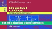 [PDF] Digital Cities: Technologies, Experiences, and Future Perspectives [Download] Online