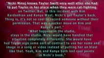SHOCKING Nicki Minaj SUPPORTS Taylor Swift, DISSES Kim Kardashian & Kanye West.