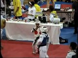 good match 10 year old black belts sparr WTF TKD tae kwon do