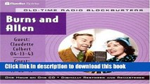Read Book Radio Shows: Burns   Allen (Old-Time Radio Blockbusters 1-Hour Collections) PDF Free