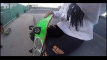 skateboarder-skateboarding 'throw on and go' LOOKBOOK FT PLANB BOARD