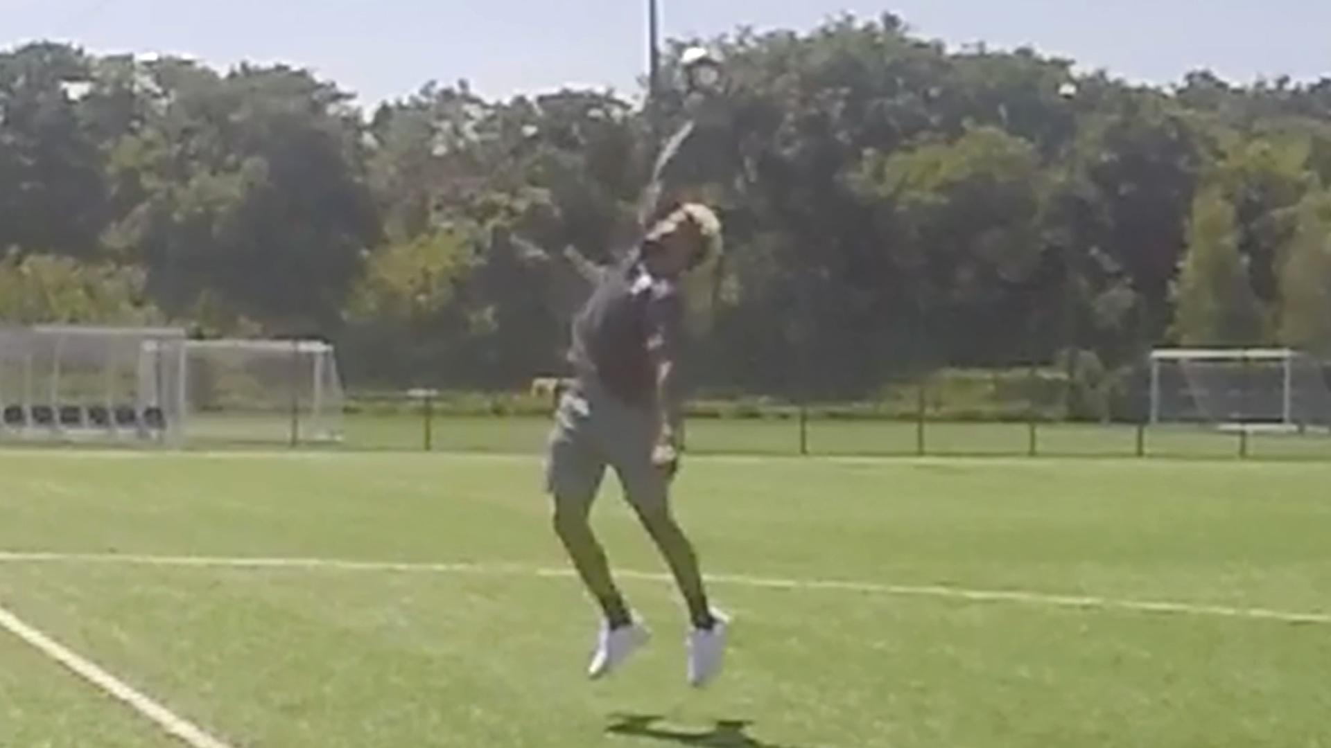 Odell Beckham Jr. Shows Off One-Handed Soccer Ball Catch