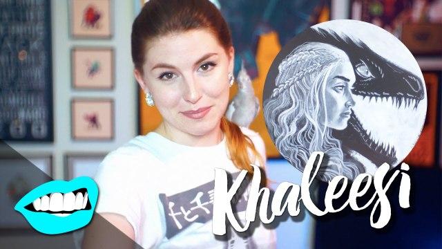 Drawing Khaleesi / Daenerys Targaryen // Rad Portraits with Beth   SNARLED  