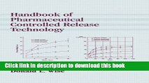 [PDF] Handbook of Pharmaceutical Controlled Release Technology Popular Online