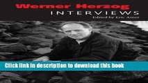 [PDF] Werner Herzog: Interviews (Conversations with Filmmakers Series) Full Colection