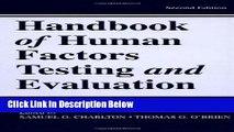 Ebook Handbook of Human Factors Testing and Evaluation Free Online