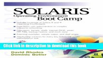 [Read PDF] Solaris Operating Environment Boot Camp Download Online