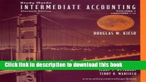 [PDF] Study Guide to accompany Intermediate Accounting Volume I (Chapters 1-14), 11th Edition