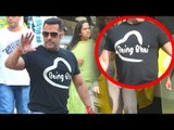 Salman Khan Wearing New Being Human T-Shirt Titled 'BEING BHAI'
