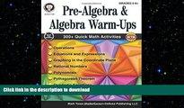 READ THE NEW BOOK Pre-Algebra and Algebra Warm-Ups, Grades 5 - 12 FREE BOOK ONLINE
