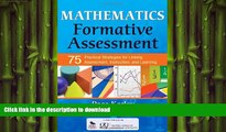 DOWNLOAD Mathematics Formative Assessment, Volume 1: 75 Practical Strategies for Linking