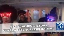 Ces pécheurs bretons font la fête sur leur bateau et leurs vidéos cartonnent