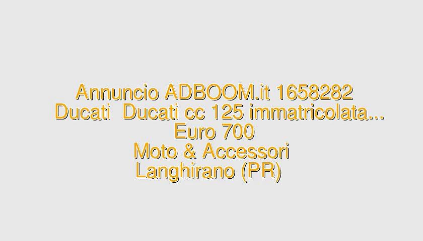 Ducati  Ducati cc 125 immatricolata…