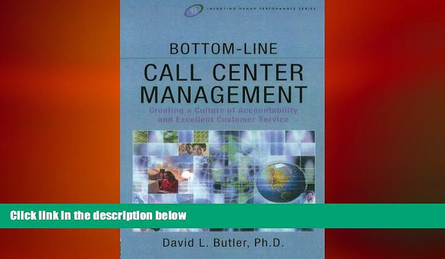 FREE DOWNLOAD  Bottom-Line Call Center Management (Improving Human Performance)  FREE BOOOK ONLINE