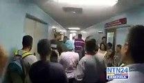 Guardia Nacional fue sacada a gritos del Hospital Clínico Universitario