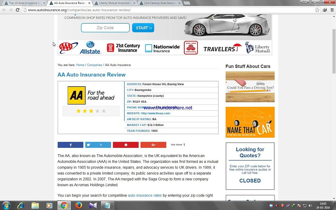 Auto Insurance Company AA Auto Insurance
