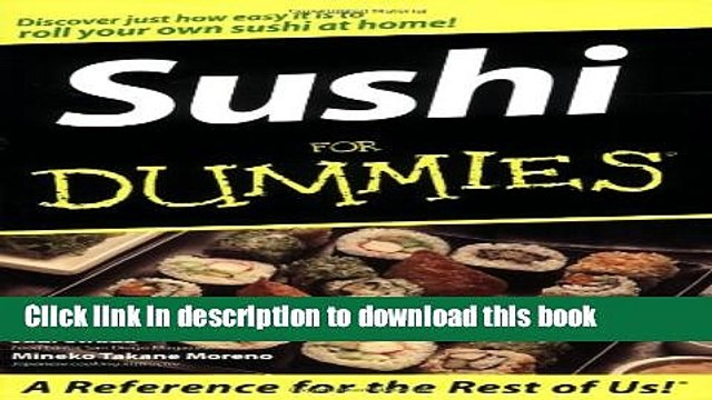 Read Sushi For Dummies Ebook Free