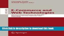 Read E-Commerce and Web Technologies: 8th International Conference, EC-Web 2007, Regensburg,