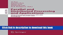 Read Parallel and Distributed Processing and Applications: Third International Symposium, ISPA