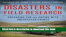 [PDF] Disasters in Field Research: Preparing for and Coping with Unexpected Events Read Online