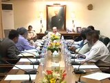Sindh Chief Minister Syed Qaim Ali Shah chair meeting on water issue in Karachi