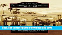 Read Paramount Studios (Images of America) Ebook Free