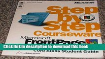 Download Microsoft FrontPage 2000 Step by Step Courseware Core Skills Class Pack Ebook Free