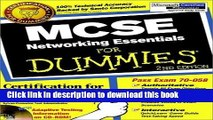 Download MCSE Networking Essentials For Dummies (For Dummies (Computers)) 2nd edition by