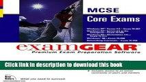 Read McSe Core Exams: Examgear : 70-067, 70-068, 70-073, 70-098, 70-058 (New Riders exam gear) by