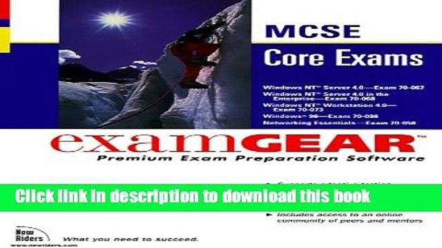 Download McSe Core Exams: Examgear : 70-067, 70-068, 70-073, 70-098, 70-058 PDF Online