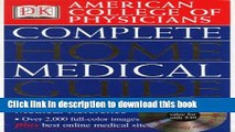 Read Books American College of Physicians Complete Home Medical Guide (with Interactive Human