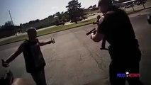 Placage violent sur un voleur : Policier en mode football américain