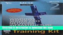 Read MCSE SelfPaced Training Kit: Exam 70293-Planning and Maintaining a Microsoft Windows Server