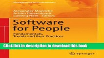 Software for People: Fundamentals, Trends and Best Practices (Management for Professionals)