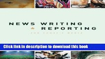 Download Book News Writing and Reporting for Today s Media PDF Free