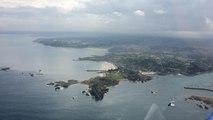 En avion, au dessus de la baie de Morlaix !