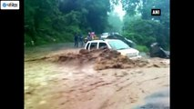 Car Washed Away Due to Heavy Floods in Uttarakhand