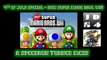 I DON'T THINK THIS IS A SPEEDRUN - New Super Mario Bros. Wii - 2016 Super-Late 4th of July Special PT. 1