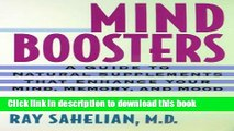 [PDF]  Mind Boosters: A Guide to Natural Supplements That Enhance Your Mind, Memory, and Mood