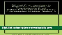 [PDF]  Clinical Pharmacology in Psychiatry: Selectivity in Psychotropic Drug Action-Promises or