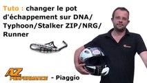 Tuto changer/remplacer son pot d'echappement de scooter piaggio giléra, Typhoon/Zip/DNA...