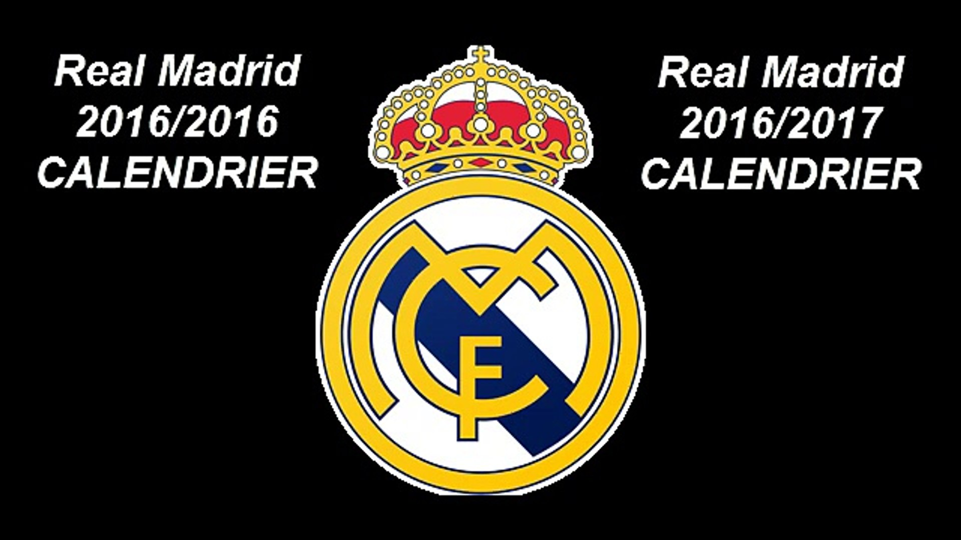 Calendrier Madrid.Real Madrid 2016 2017 Calendrier