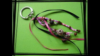 Comment fabriquer un porte clefs / bijou de sac personnalisé ?