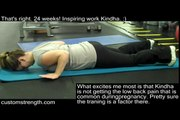Pregnancy workout: Push-ups at 24 weeks. Awesome!