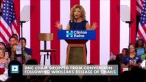 DNC chair dropped from convention following Wikileaks release of emails
