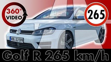 360 Test Drive VW Golf R on German Autobahn up to 265 km/h